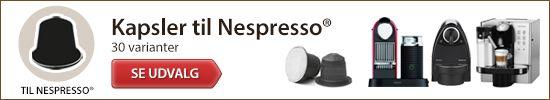 Navigation til nespresso kapsler