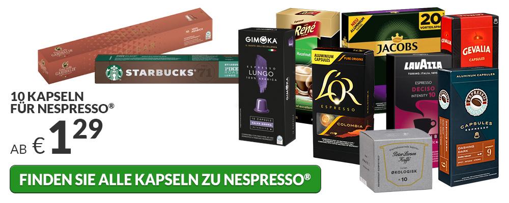 Kapseln für Nespresso