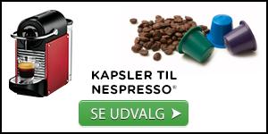 Billede af udvalg af kaffekapsler til Nespresso®